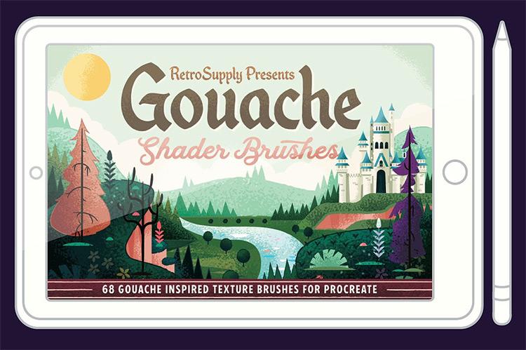 gouache brushes kit