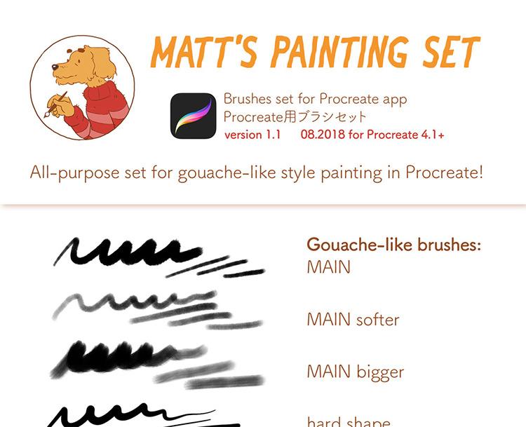matts procreate brush pack