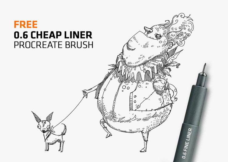 Fineline line ink brushes