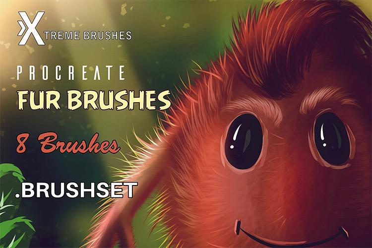Fur brushes on procreate