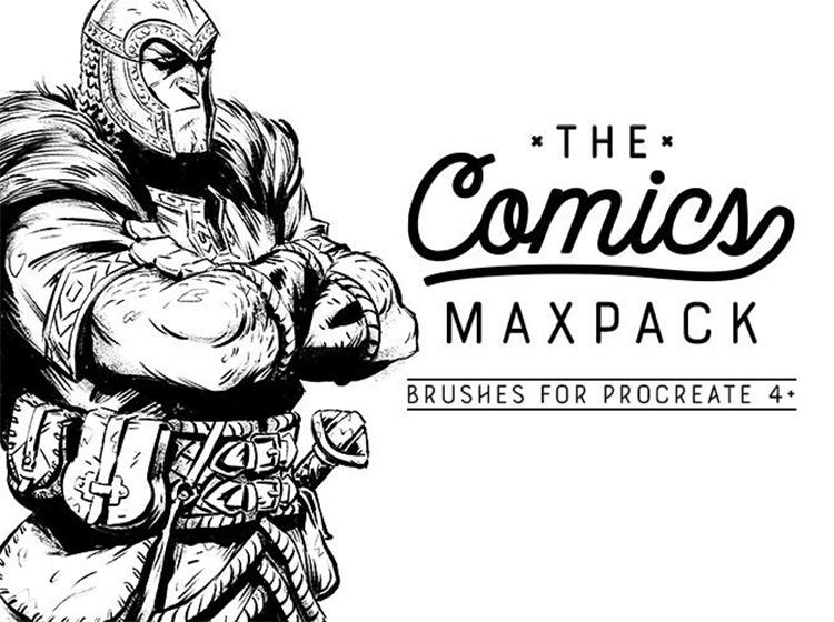 Comics maxpack brushes