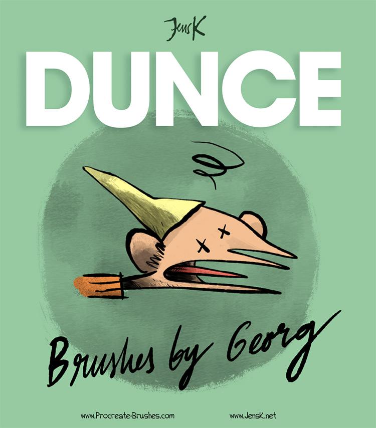 JensK DUNCE Procreate brushes