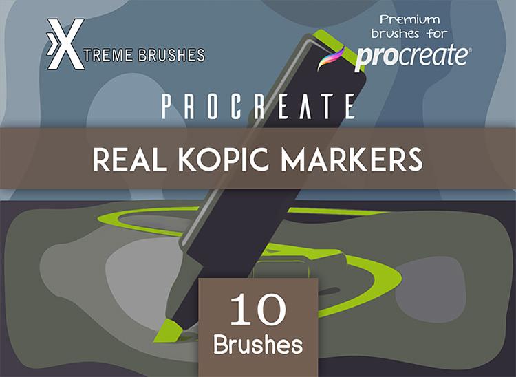Kopic Markers brush set for Procreate