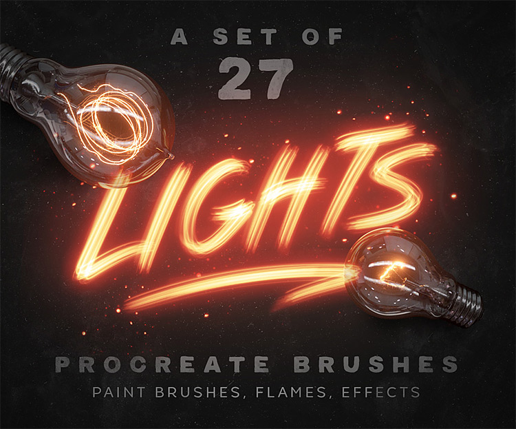 Light Procreate brushes set