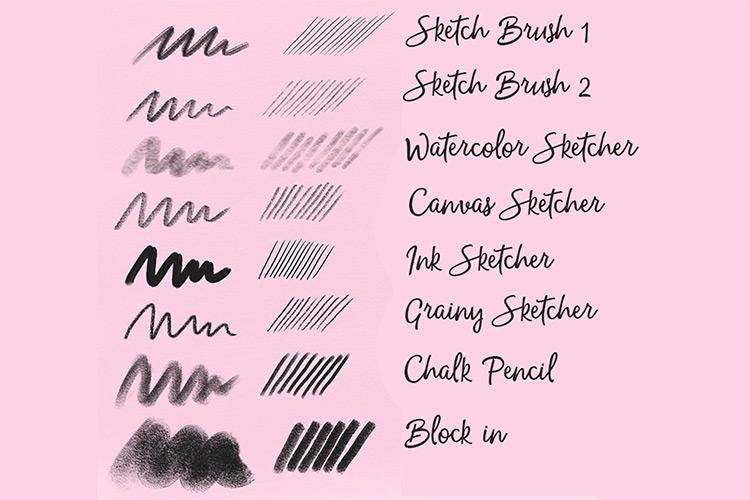 Sketching brushes Procreate