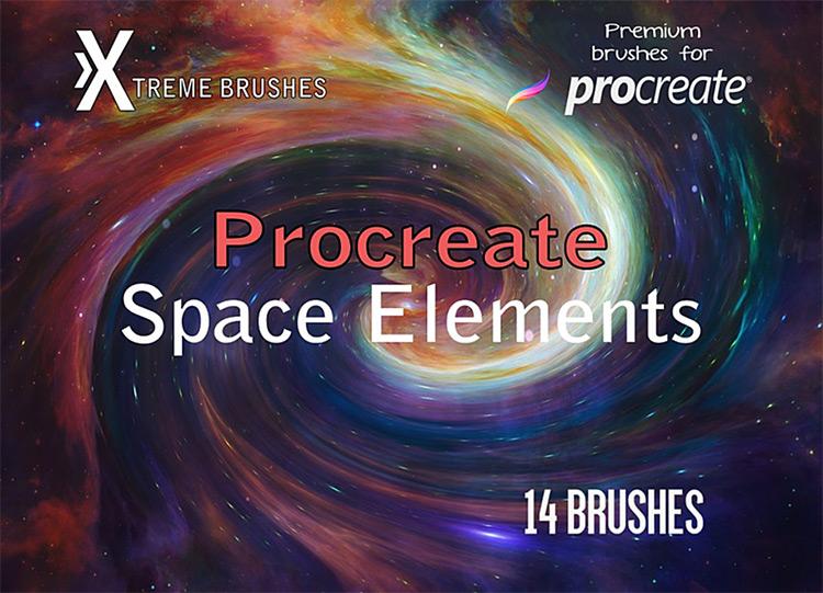 Space Elements Procreate brushset