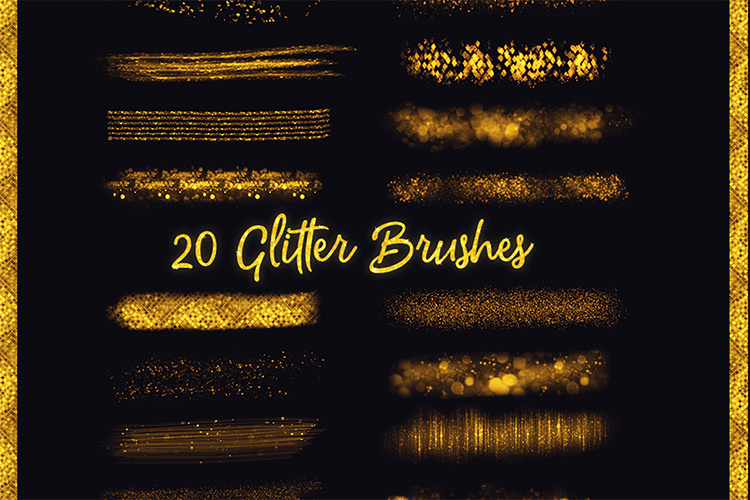 Sparkle glitter Procreate brushes