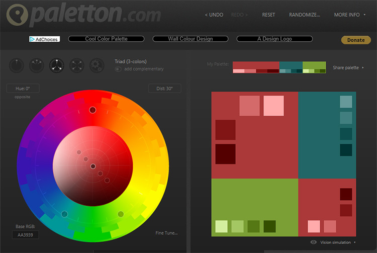 Paletton color picker app