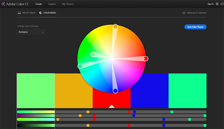 Color CC webapp by Adobe