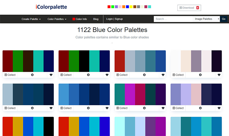 iColorpalette website