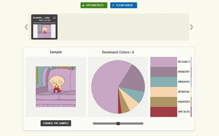 palette generator webapp