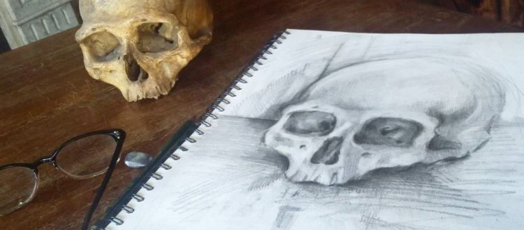 Eleanor Pearce skull art