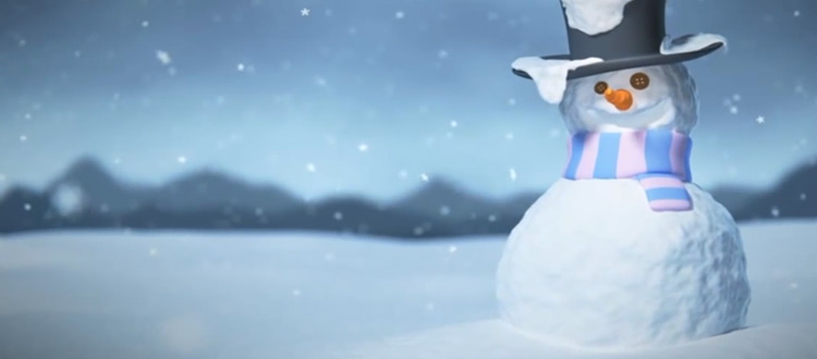 Snowman sculpted and modeled in 3D