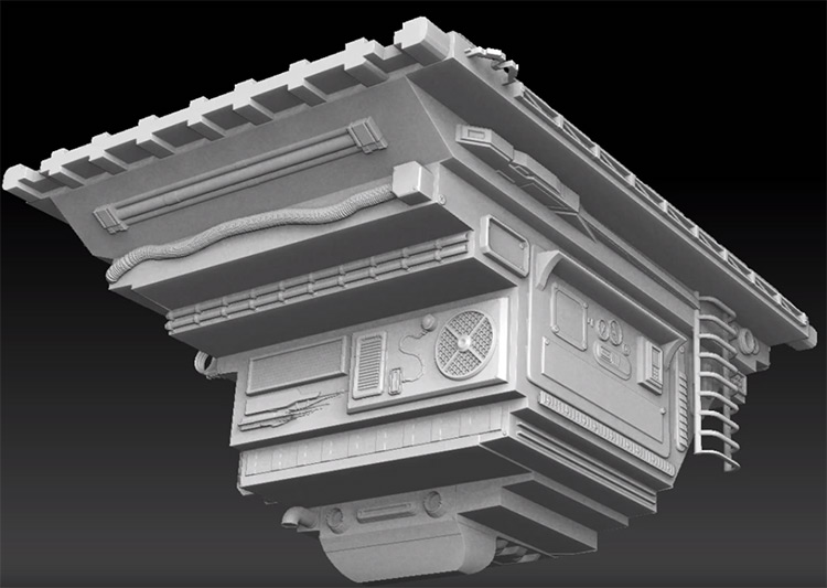 Platform hard surface modeling demo