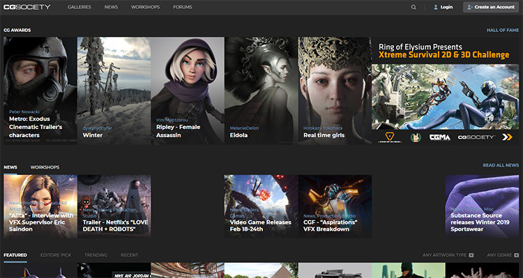 CGsociety website