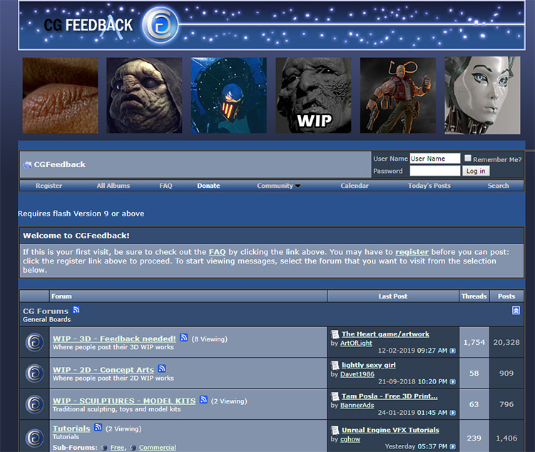 CGFeedback screenshot