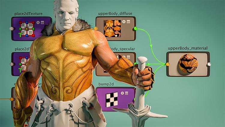 Shading texturing elements