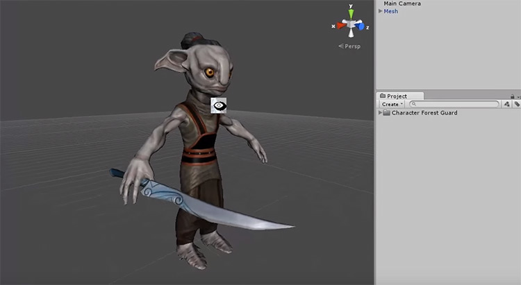 character forest guard rigged 3D