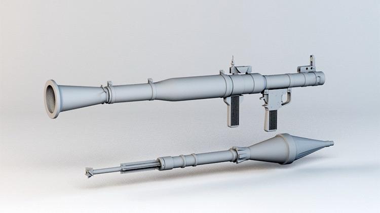 rpg rocket launcher weapon model