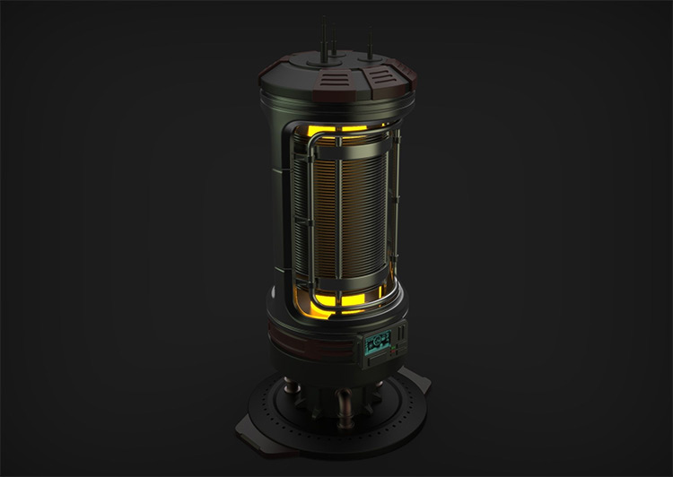 Scifi generator 3d model