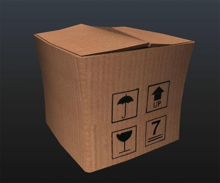 Animated cardboard box model