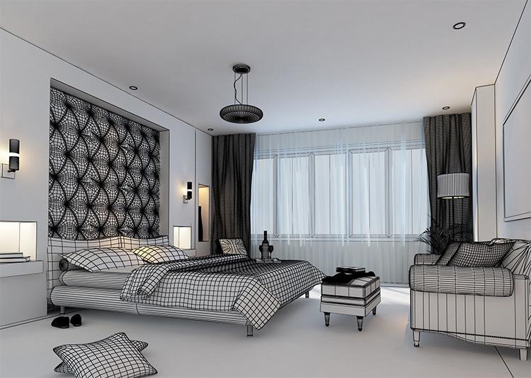 Bedroom 3d design