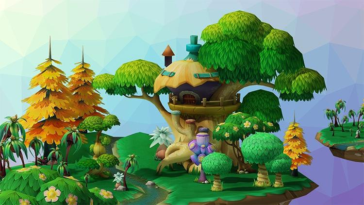 Cartoon forest model