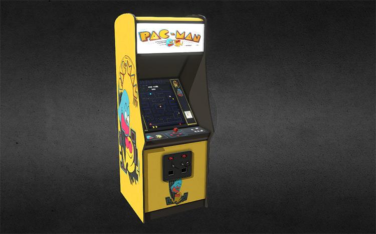 Pacman realistic arcade render
