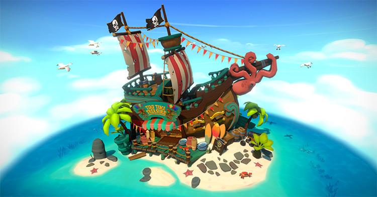 Tiki Treasure shop model