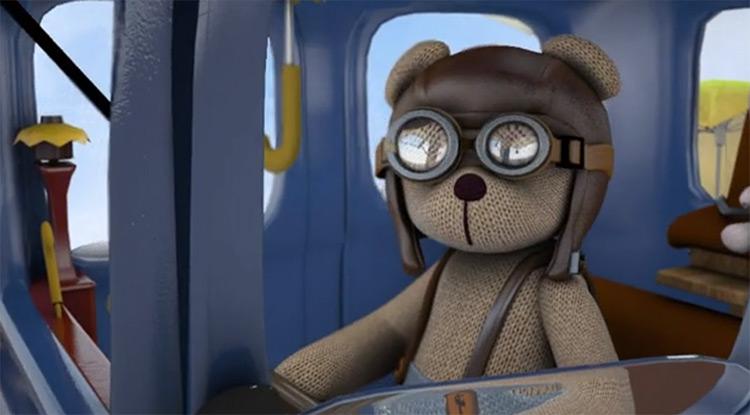 Hyunjoo Yang 3D bear pilot character