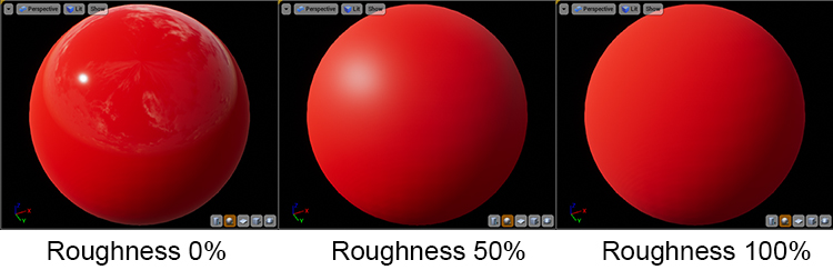 Roughness map previews