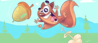 sm artists squirrel illustration
