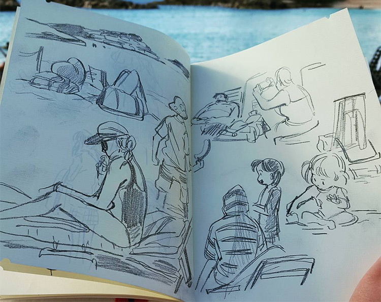 beach sketches