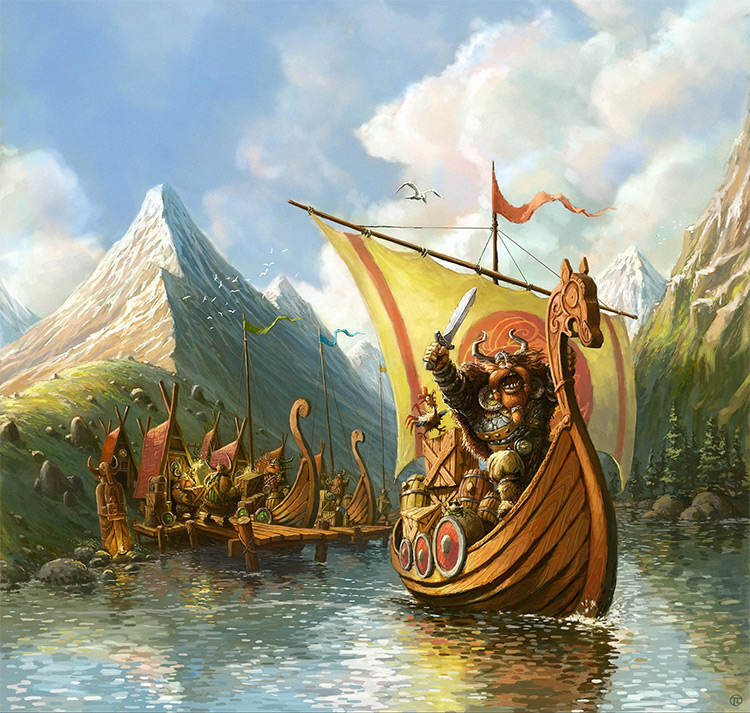 tomek larek vikings board game artwork