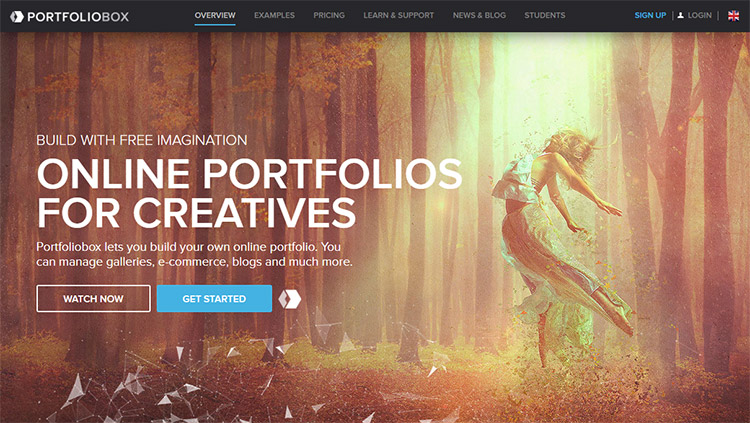 Portfoliobox homepage