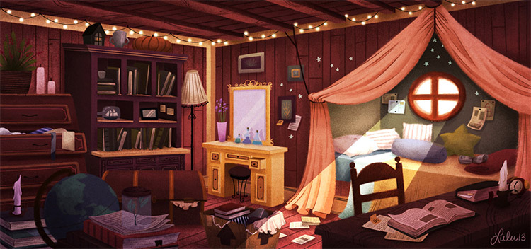 Indoors environment painting