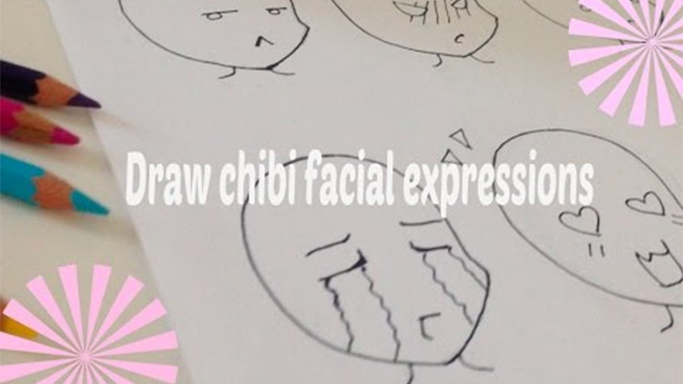 Draw Chibi Facial Expressions