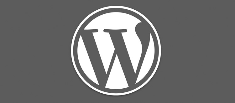 Grey WordPress Logo