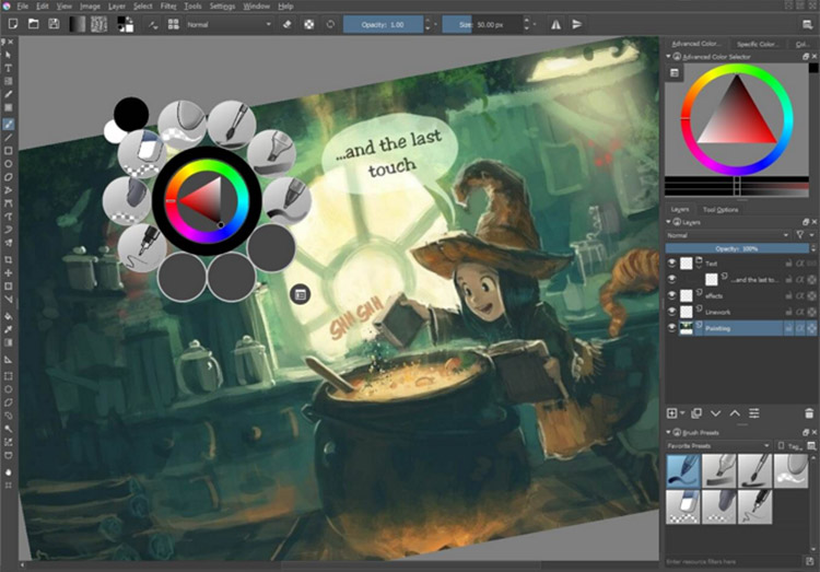 Krita screenshot preview