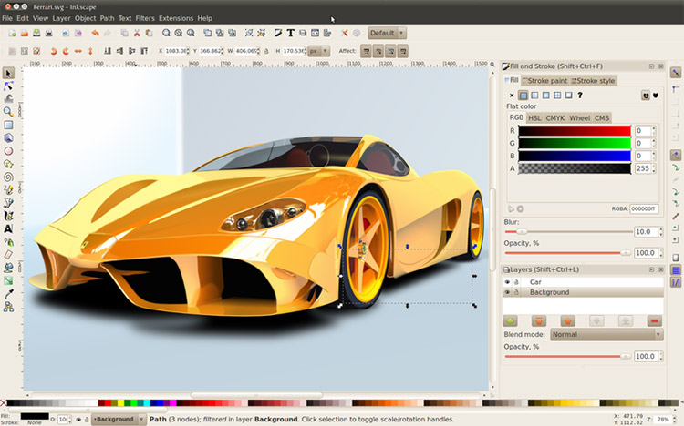 Inkscape on Linux