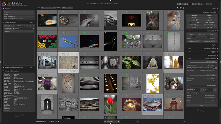 Darktable software app