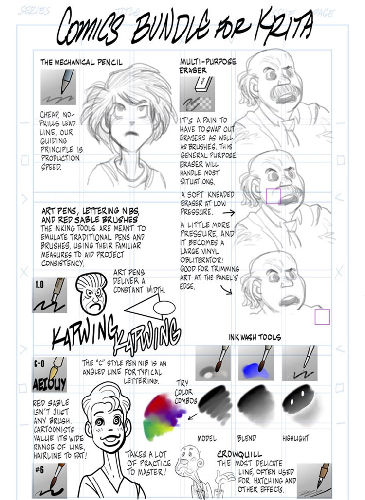 Krita Comics Brushpack