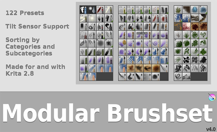 Modular Krita Brush pack