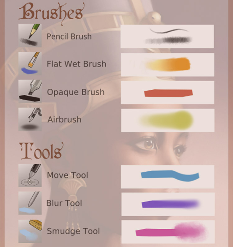Minimalist brushes