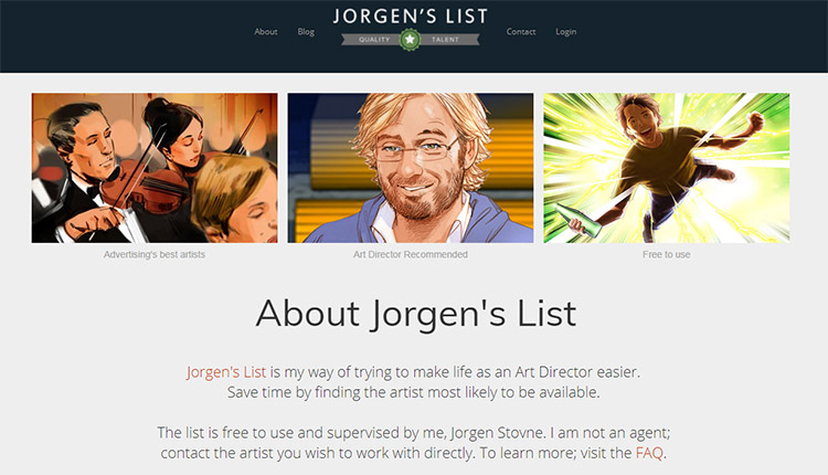 About Jorgens List