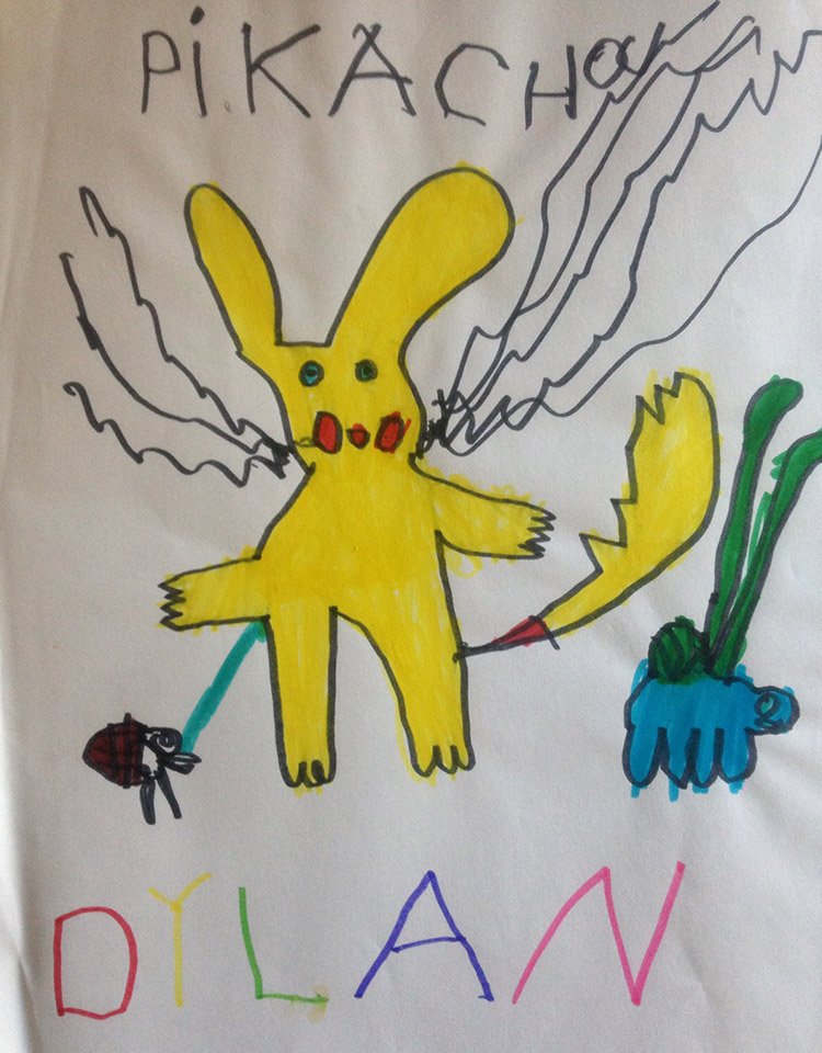 Early Pikachu drawing by Dylan