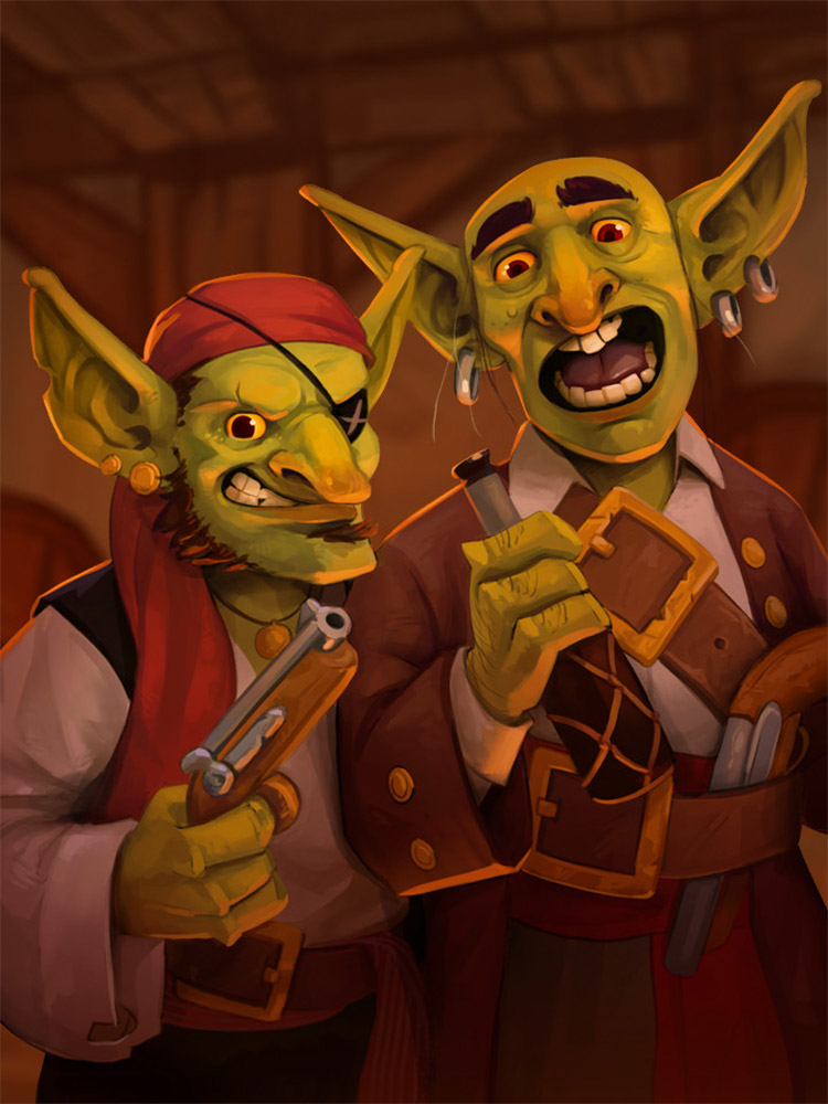 Corsair Brothers Goblin Painting