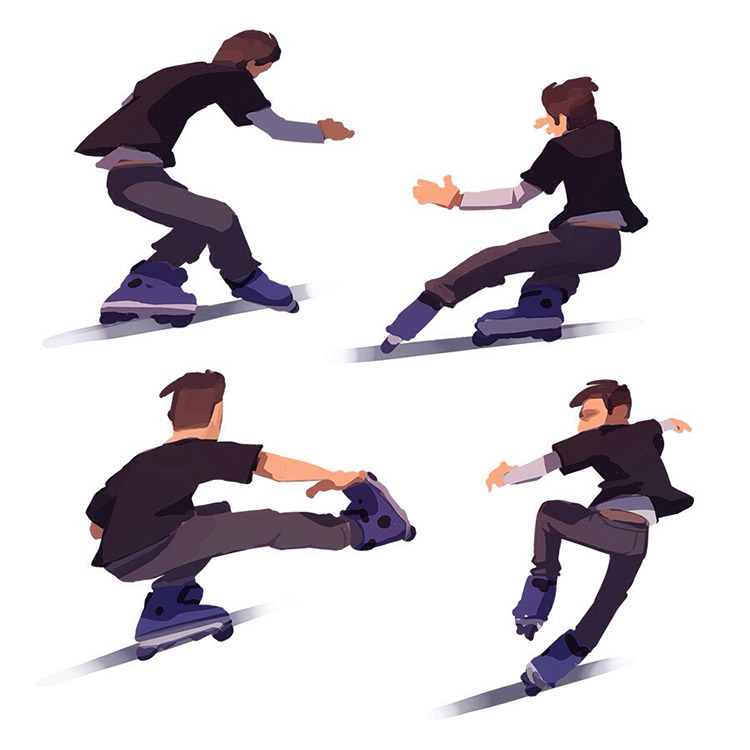 Skating guy illustrations