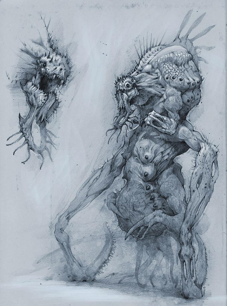 Guropa creature concept art