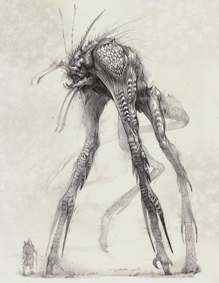 Karphanoid creature drawing